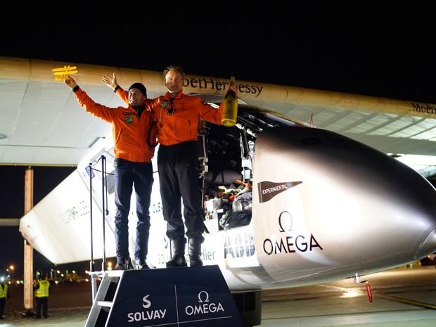 Essa é a última etapa de uma viagem destinada a quebrar o recorde de trajeto ao redor do mundo sem uso de combustível. (Foto: Reuters)